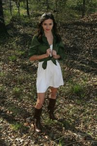 white dress, brown boots look