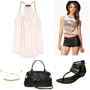 light pink tank day collage
