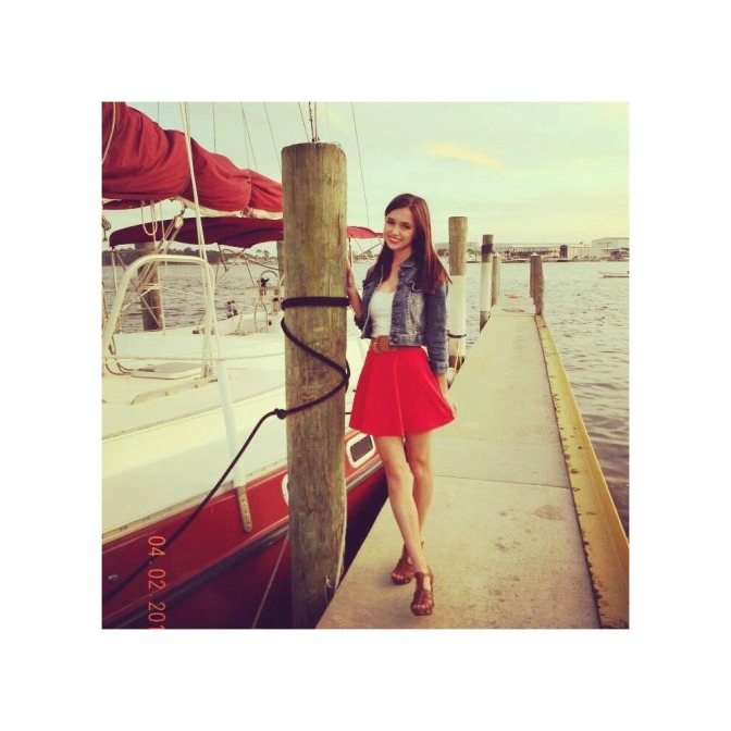 OOTD: Cheery Red Skirt