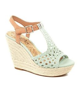 dillard's white wedges