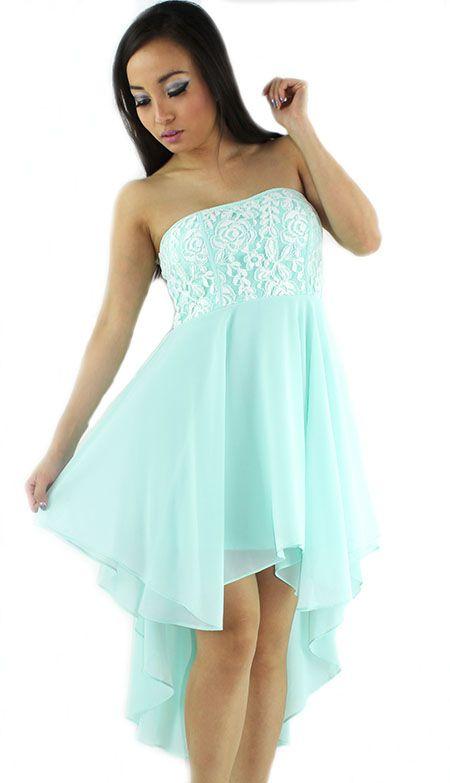 mint high low dress