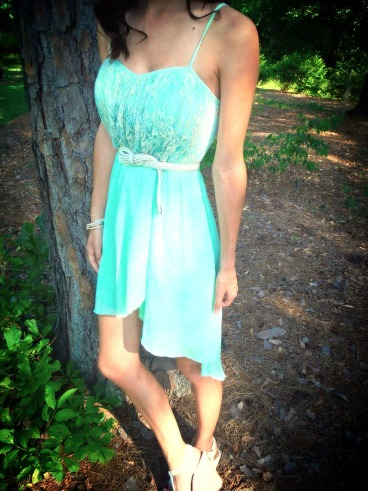 OOTD: Mint High-Low Dress