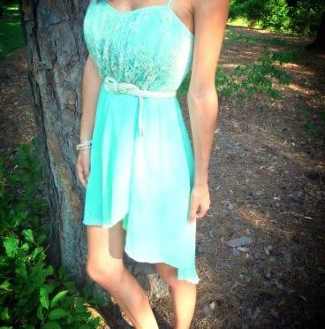 OOTD: Mint High-Low Dress