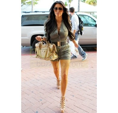 Steal That Style: Kim's Army Green Romper