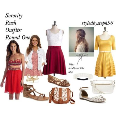 sorority rush outfit ideas for round one styledbysteph96