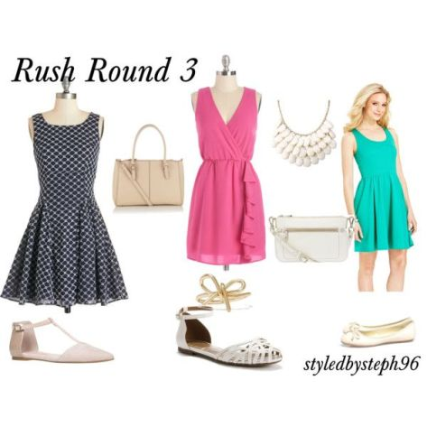 sorority rush outfit ideas, round 3, styledbysteph96