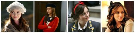 blair waldorf berets and headbands, hats, gossip girl, styledbysteph96