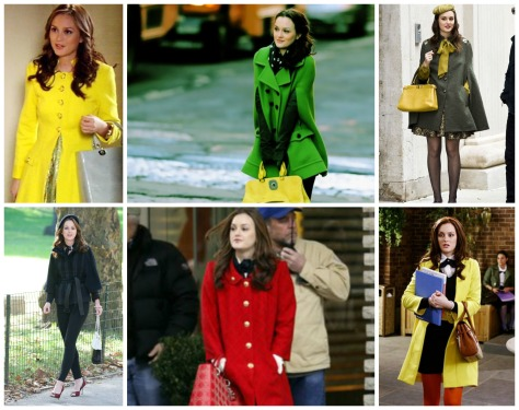 blair waldorf coats, outfits, styledbysteph96, gossip girl