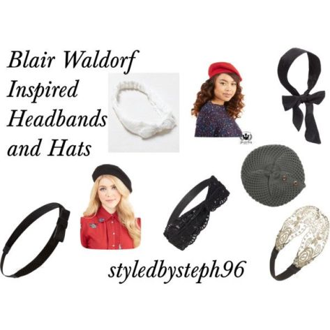 blair waldorf, hats and headbands, berets, styledbysteph96, pinterest