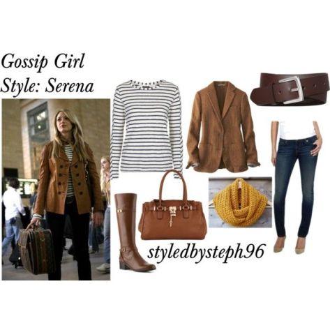 gossip girl style, serena look 1, styledbysteph96