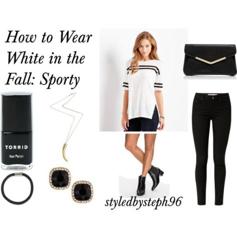 how to wear white in the fall, sporty, styledbysteph96