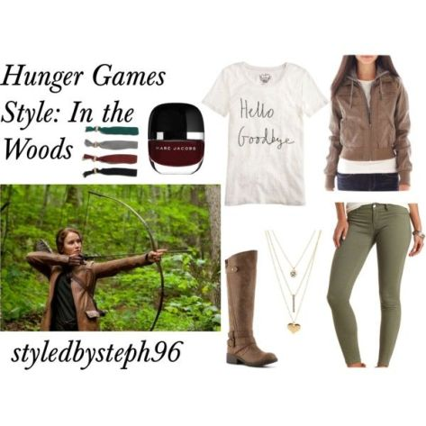 hunger games, katniss in the woods outfit, styledbysteph96