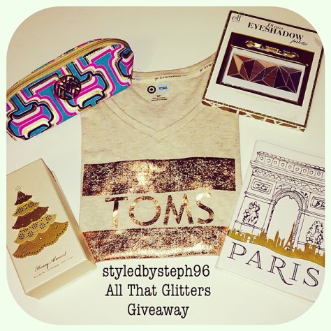 styledbysteph96 giveaway, all that glitters, blog giveaway