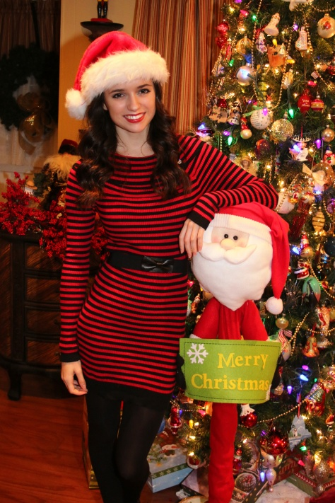christmas ootd final 2, styledbysteph96, red and black dress