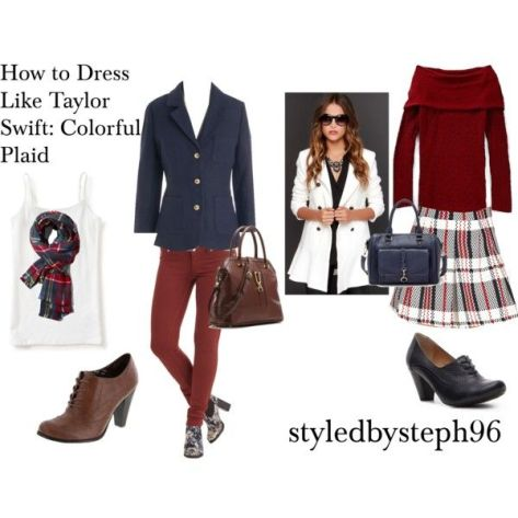 taylor swift outfit ideas, plaid, fall, winter, styledbysteph96
