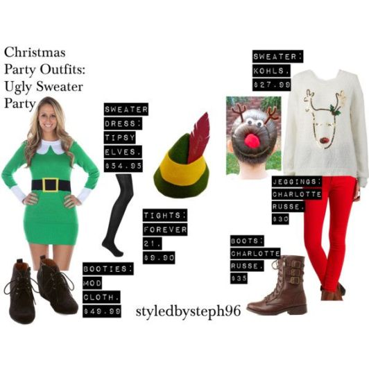 ugly christmas sweater outfits, party outfit, styledbysteph96