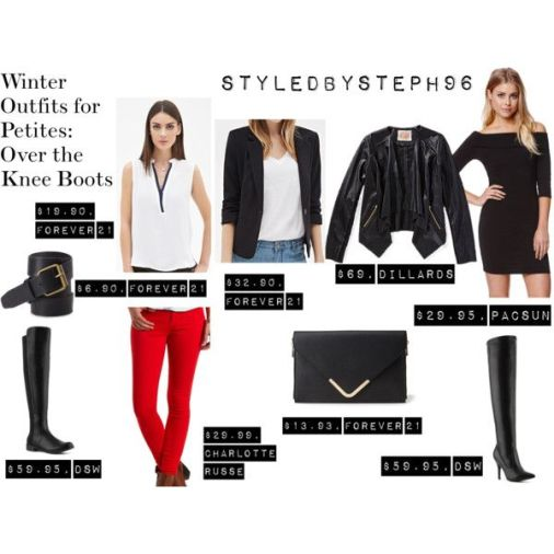 winter outfit ideas for petite, layers, fashion, styledbysteph96, over the knee boots