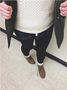 class act, styledbysteph96, wordsandlace, plaid, sweater, glasses, layers, winter, ootd, fashion