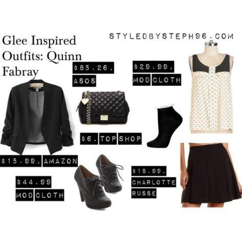 quinn fabray polyvore outfits, glee fashion, gleeks, styledbysteph96, dianna agron