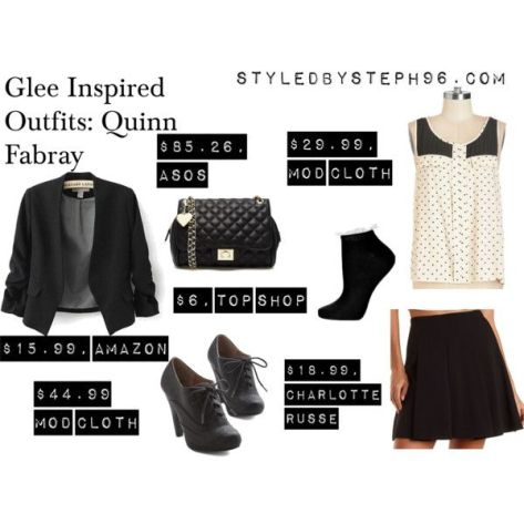 quinn fabray polyvore outfits, glee fashion, gleeks, styledbysteph96, dianna agron