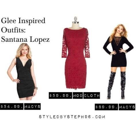 santana lopez polyvore outfits, bodycon dresses, night out outfits, glee fashion, styledbysteph96