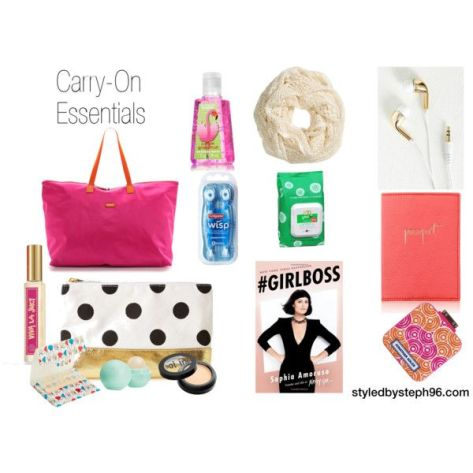 carry-on essentials, travel guide, travel in style, fashion, packing list, styledbysteph96