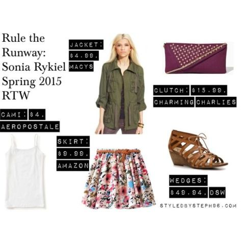 rule the runway, polyvore set, sonia rykiel, spring outfits, skater skirt
