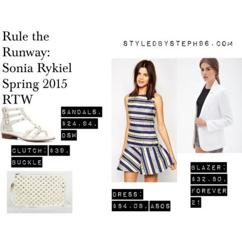 rule the runway, striped dress, drop waist, styledbysteph96, spring fashion