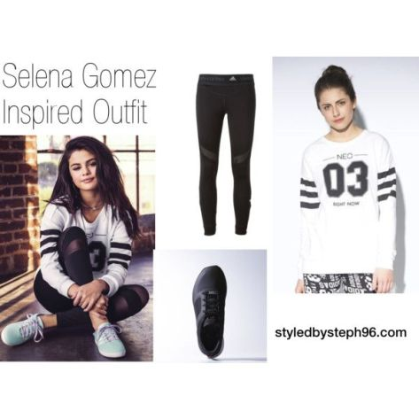 selena gomez inspired fashion, sporty looks, sweatshirt, comfy, outfits for class, styledbysteph96
