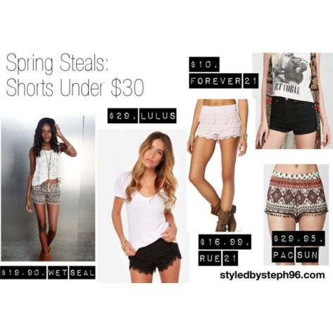 spring shorts, tribal, styledbysteph96, spring steals, spring fashion 2015