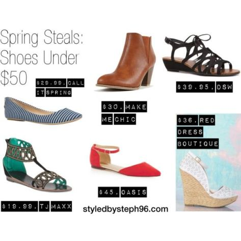 spring steals, shoes under 50, styledbysteph96, fashion blog, spring 2015