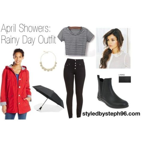 april showers, rainy day outfit, what to wear when it rains, cute rain boots, styledbysteph96